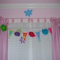 Birthday Banner Turned Girly Room Decor