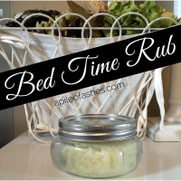 Bed Time Rub with Essential Oils {Sleep Tight!}
