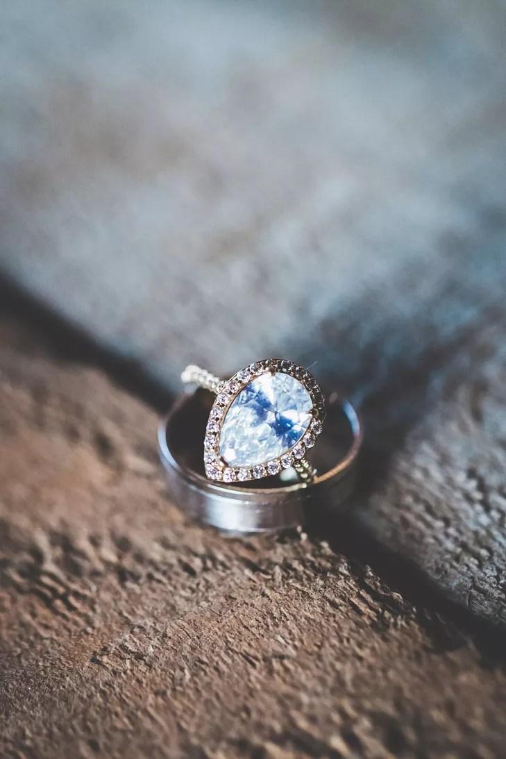 blue teardrop diamond engagement ring photo tear drop wedding ring