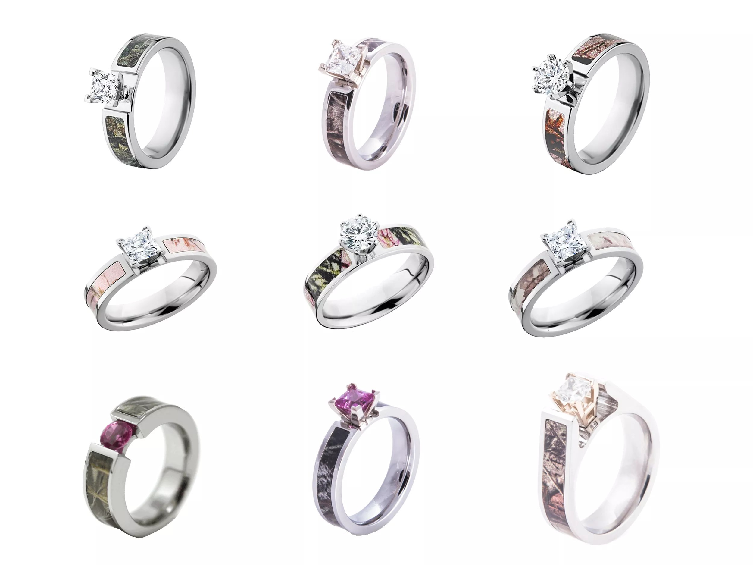camo wedding rings engagement rings camouflage wedding ring sets