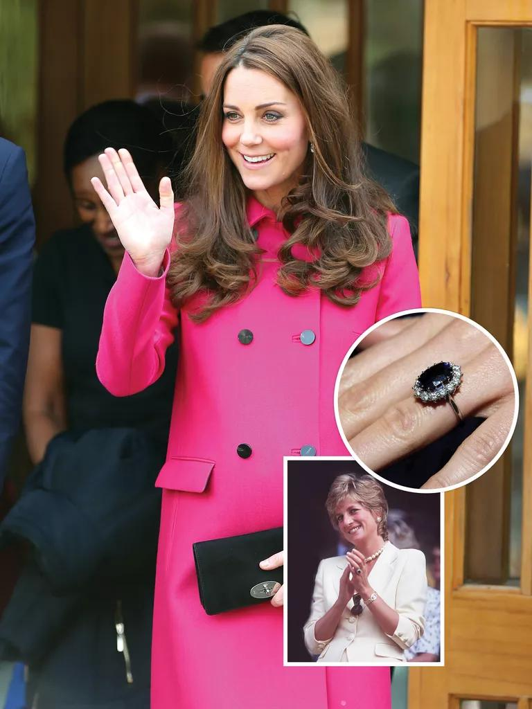10 famous engagement rings in history princess kate wedding ring Kate Middleton and Princess Diana s engagement ring