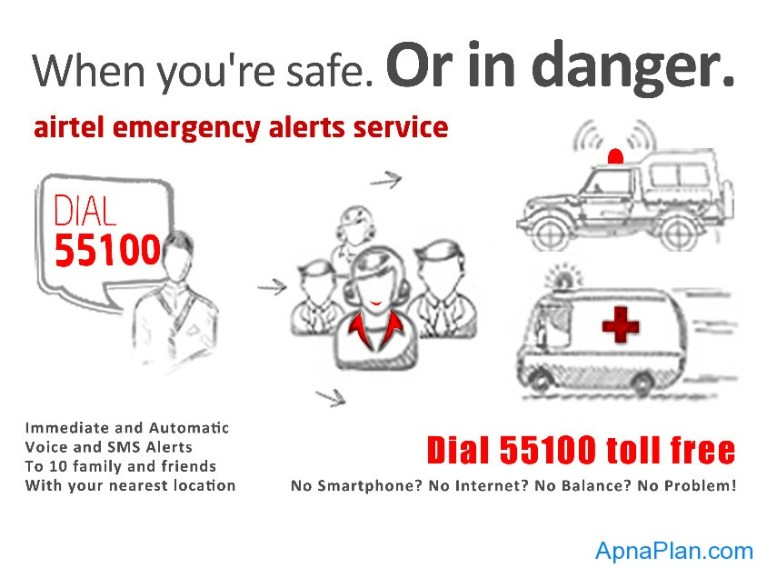 Dial 55100 for Emergency Alert