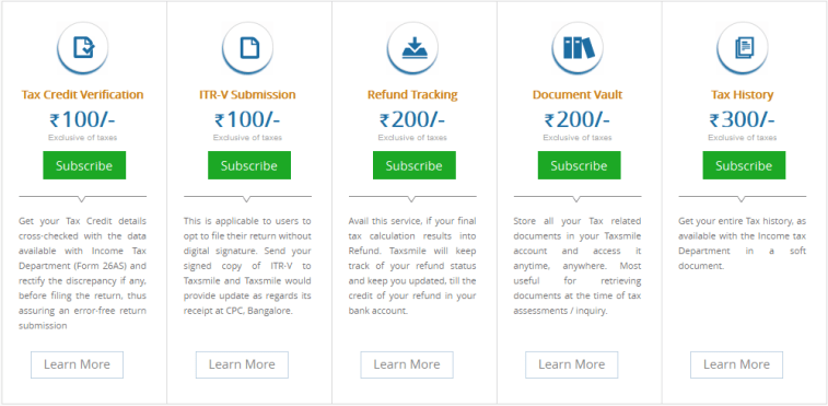 TaxSmile Value Added Charges
