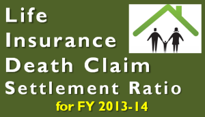 Life Insurance Claim Settlement Ratio for FY 2013-14