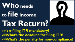 Who needs to file Income Tax Return for AY 2015-16?