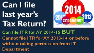 Can I file my Previous Year Tax Return?