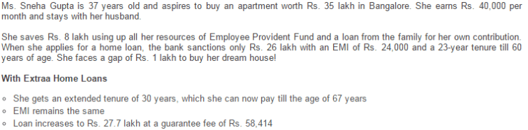 ICICI Bank Extraa Home Loan - Illustration for young - salaried customers