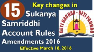 changes in Sukanya Samriddhi Account Rules Amendments 2016