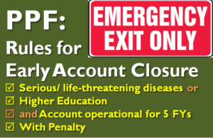 PPF - Rules for Early Account Closure