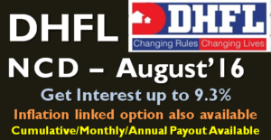 DHFL NCD - August 2016