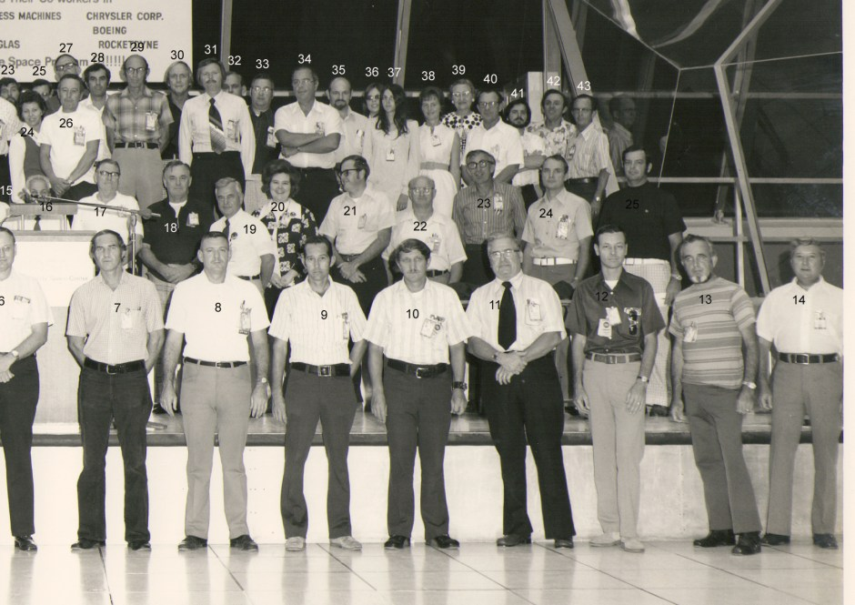 Boeing contractors, right side of group picture