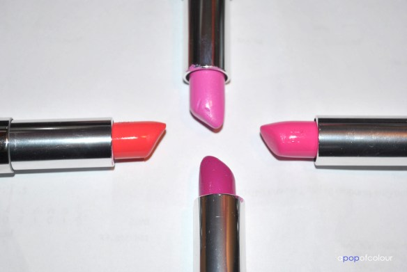 four lipsticks