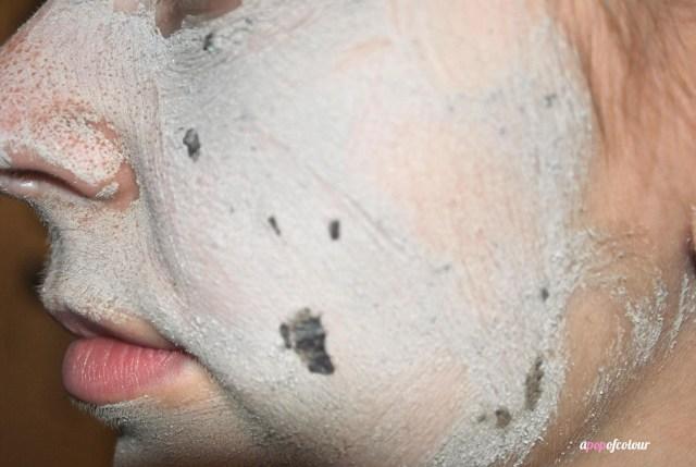 black mask close up