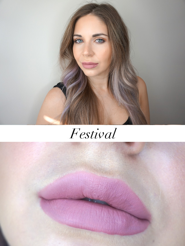 Swatch of Tarte Tartiest Quick Dry Matte Lip Paint in Festival