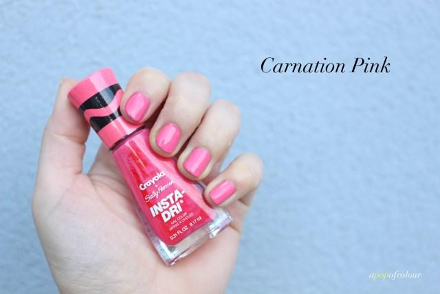 Sally Hansen Insta-Dri x Crayola Carnation Pink swatch