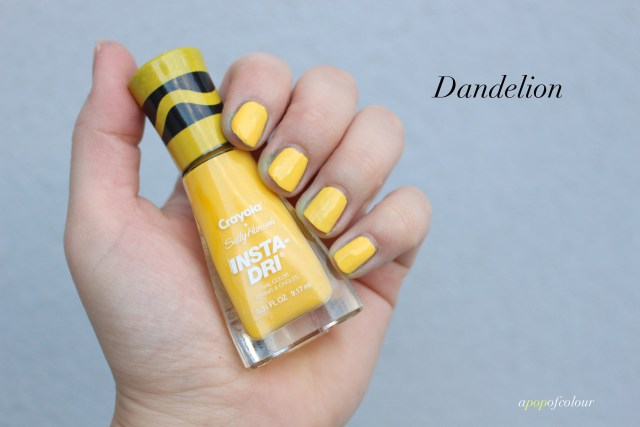 Sally Hansen Insta-Dri x Crayola Dandelion swatch