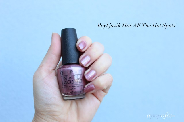OPI Reykjavik Has All the Hot Spots swatch