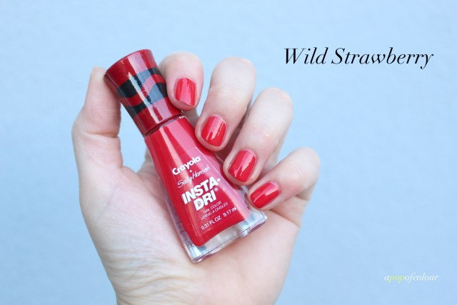 Sally Hansen Insta-Dri x Crayola Wild Strawberry swatch