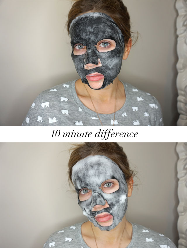 Rodial Snake Oxygenating & Cleansing Bubble Mask before and after
