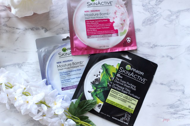 Garnier Skin Active face masks