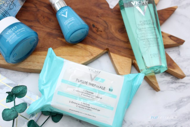Vichy  Purete Thermale Makeup Removing Micellar Cleansing Wipes and cleanser