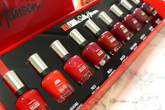 Sally Hansen Red/esign nail polishes