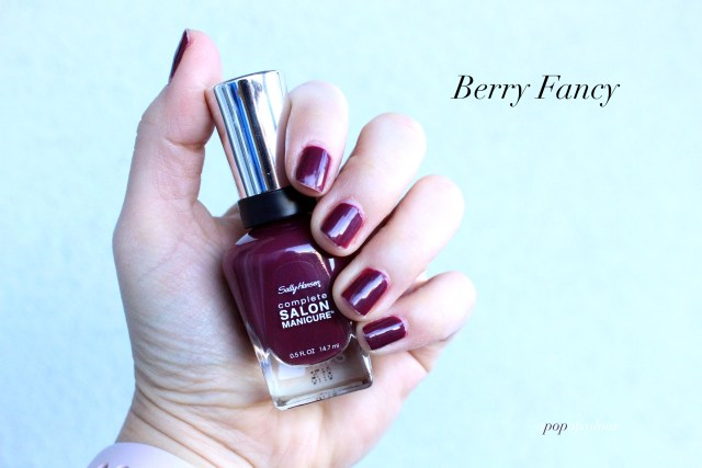 Sally Hansen Red/esign nail polishes swatch in Berry Fancy