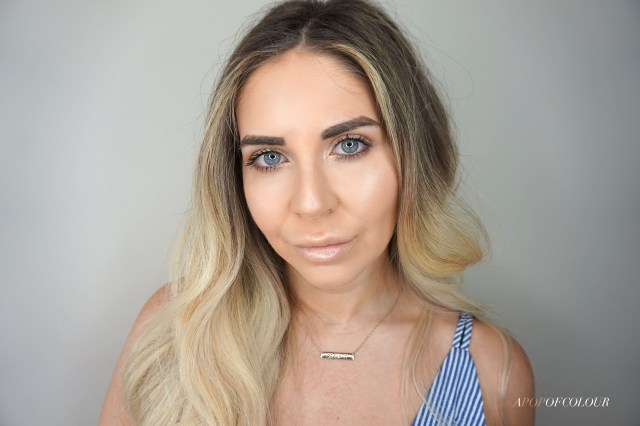 Makeup look using Tarte Face tape foundation