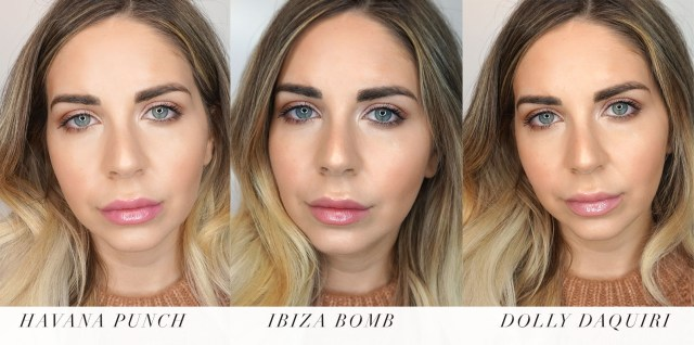 Buxom Wanderlust Full-On Plumping Lip Gloss Creams swatches