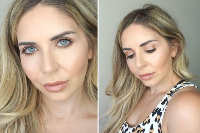 Makeup look featuring Charlotte Tilbury Pillow Talk makeup products