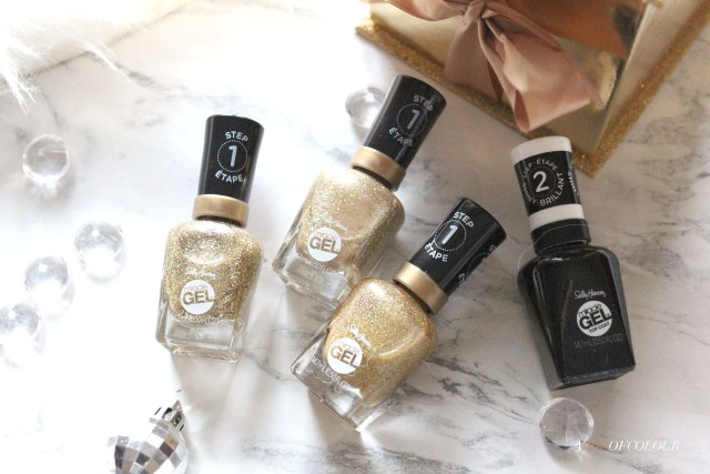 Sally Hansen Miracle Gel Oh My Gold holiday collection for 2019