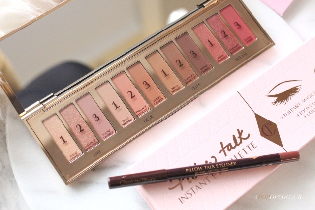 Charlotte Tilbury Pillow Talk Instant Eye Palette and Eyeliner