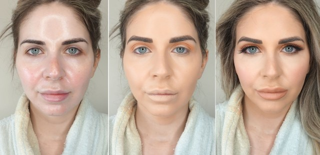 Swatches of trying out TikTok filtered foundation trend