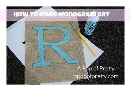 diy monogram art