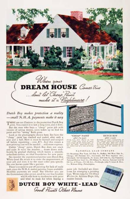 Vintage Home Decor Ad for paint