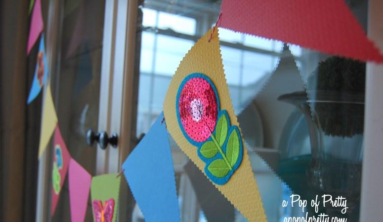 Colorful DIY Pennant Garland (Summer Decorating)