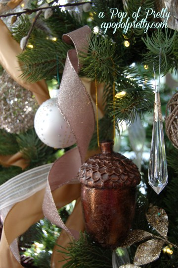 brown Christmas tree decorations