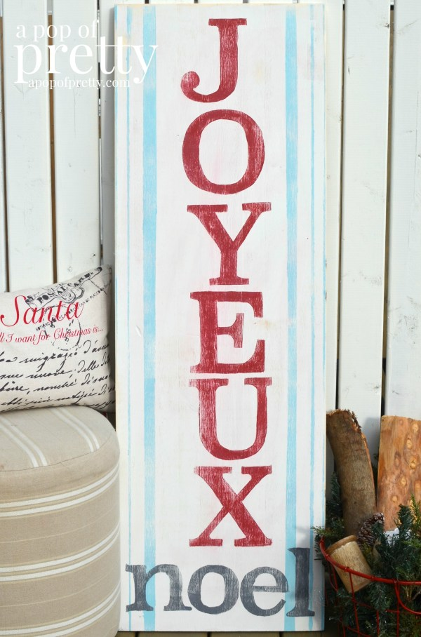Joyeus Noel Wooden Sign
