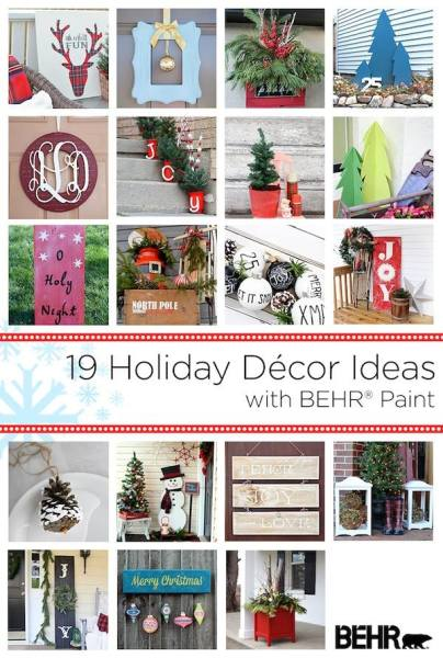 Behr Holiday Decor Ideas Collage