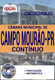 Apostila - CONTÍNUO - Concurso Câmara de Campo Mourão PR 2016