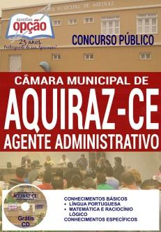 Apostila - AGENTE ADMINISTRATIVO - Concurso Câmara Municipal de Aquiraz / CE 2016