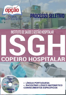 Apostila - COPEIRO HOSPITALAR - Concurso ISGH 2016