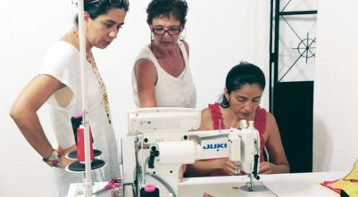 Quality Skills Center in Punta Mita, Mexico, trains apparel workers through a paid apprenticeship program, then hires the workers to produce apparel made from traditional Guatemalan- and Mexican-made textiles.