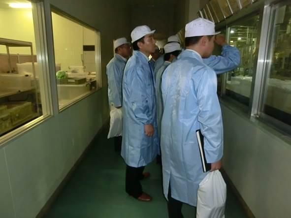 成形フィルター工場の見学