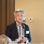「日本の製粉水車について」の講演をされる、福岡市博物館 学芸員 鳥巣 京一氏