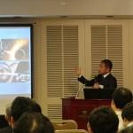 株式会社シンコーメタリコン 代表取締役社長 立石豊 様 ご講演の様子