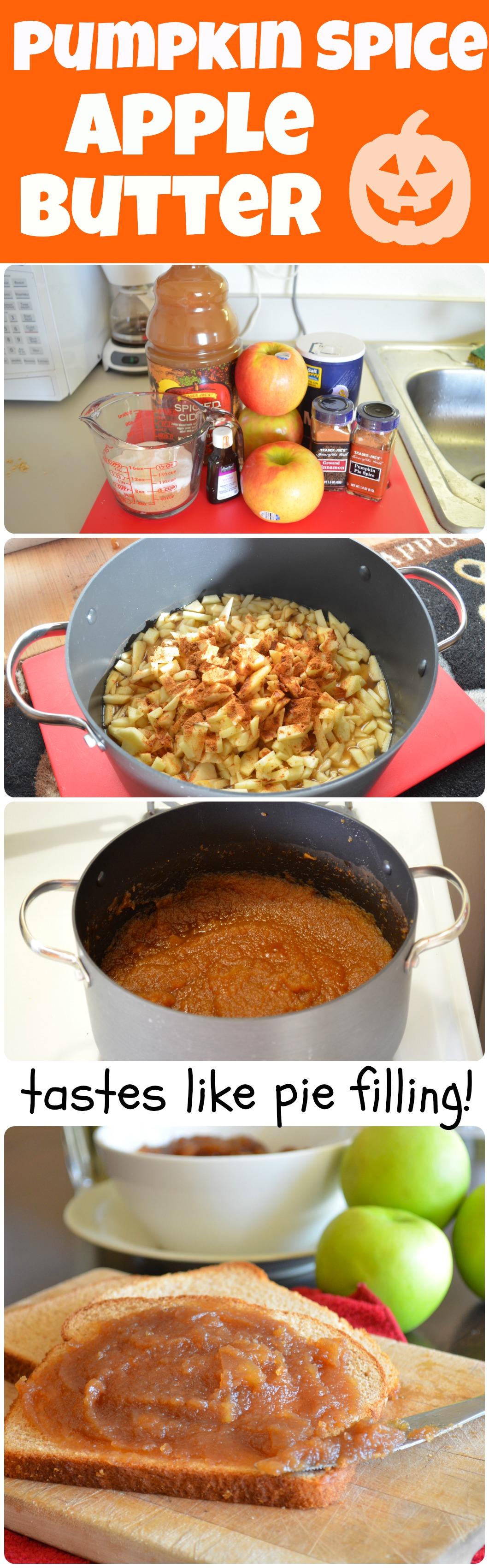 Pumpkin Spice Apple Butter! It tastes like the inside of an apple pie ...