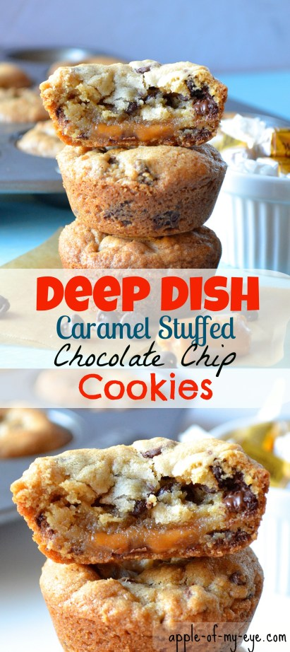 Filled with half-baked cookie dough and caramel. Yup, seriously.