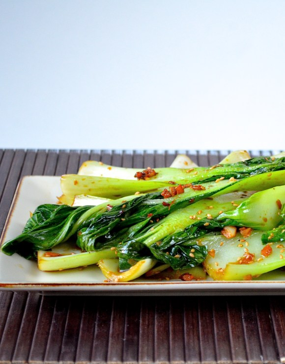 Garlic Ginger Bok Choy- healthy, easy, and done in under 10 minutes