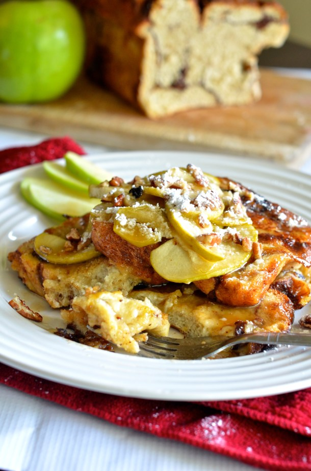 Salted Caramel Apple French Toast